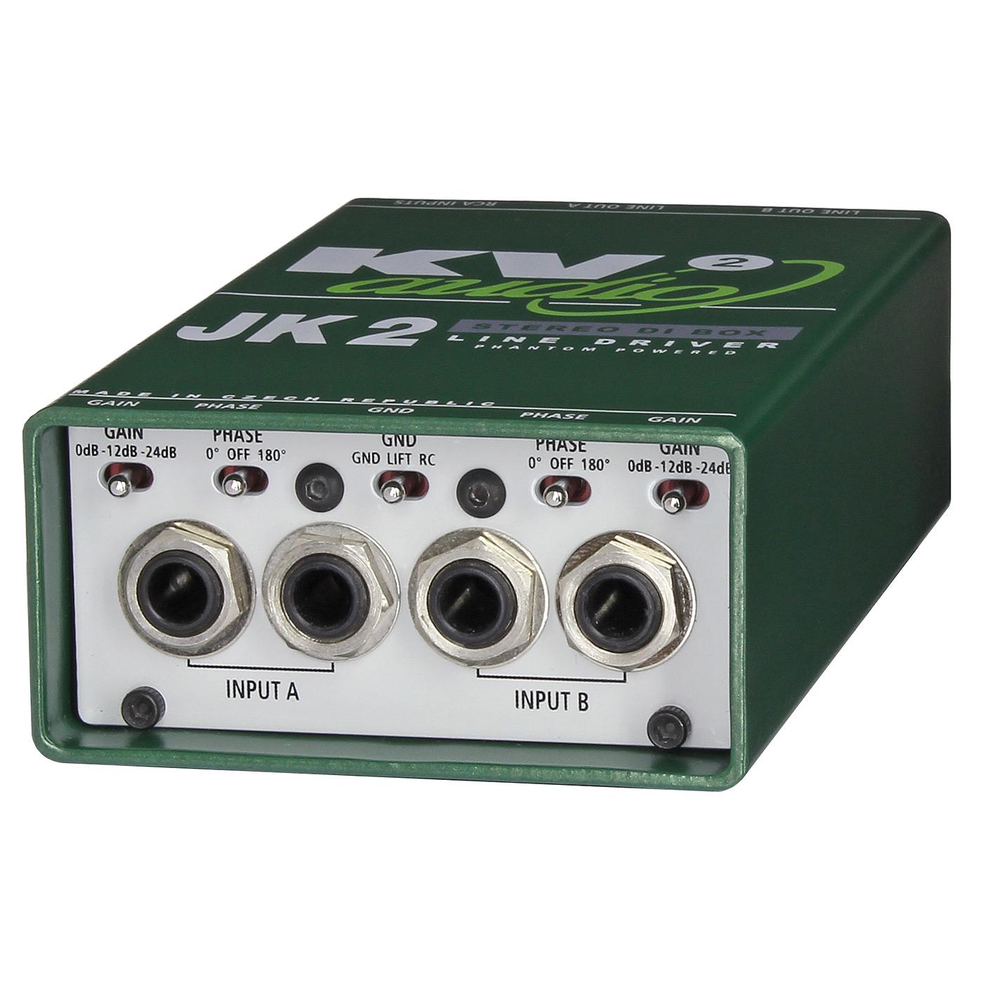 DI-box KV2 Audio JK2 aktivní stereo