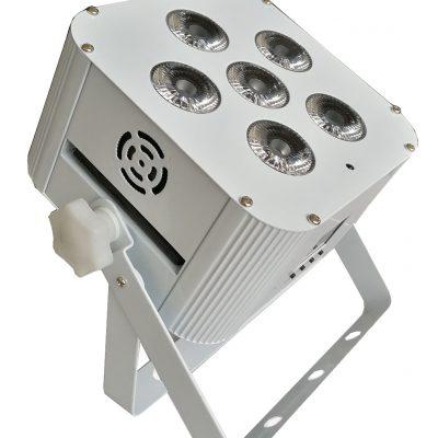 LED statická bateriová – LED PAR RGBWAUV 6x18W bezdrátový