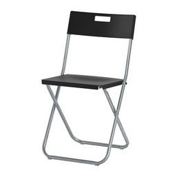 Židle skládací černá