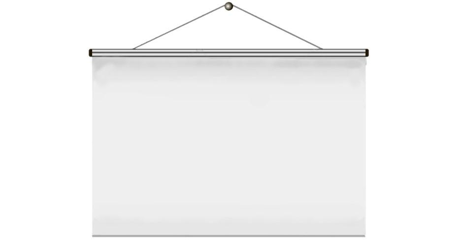 Projekční plátno bez rámu 3 x 1,7 zadní projekce