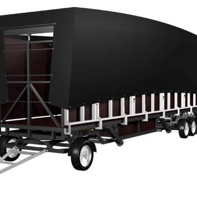 mobilní podium 10x8 složené
