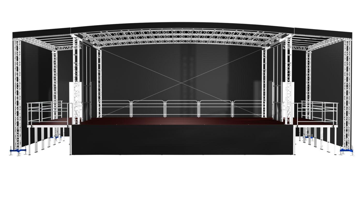 Mobilní podium (16)10x8m
