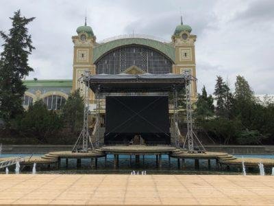 Výstaviště Holešovice Křižíkova fontána Letní scéna