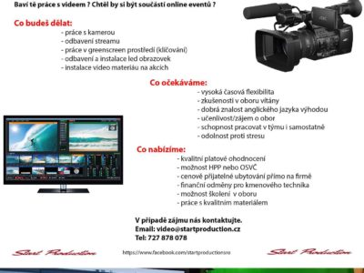 Nabídka práce videotechnika